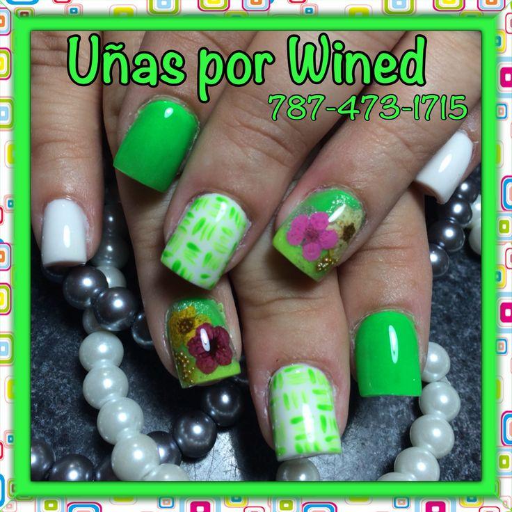 21 best Uñas images on Pinterest | Fingernail designs, Green nails ...