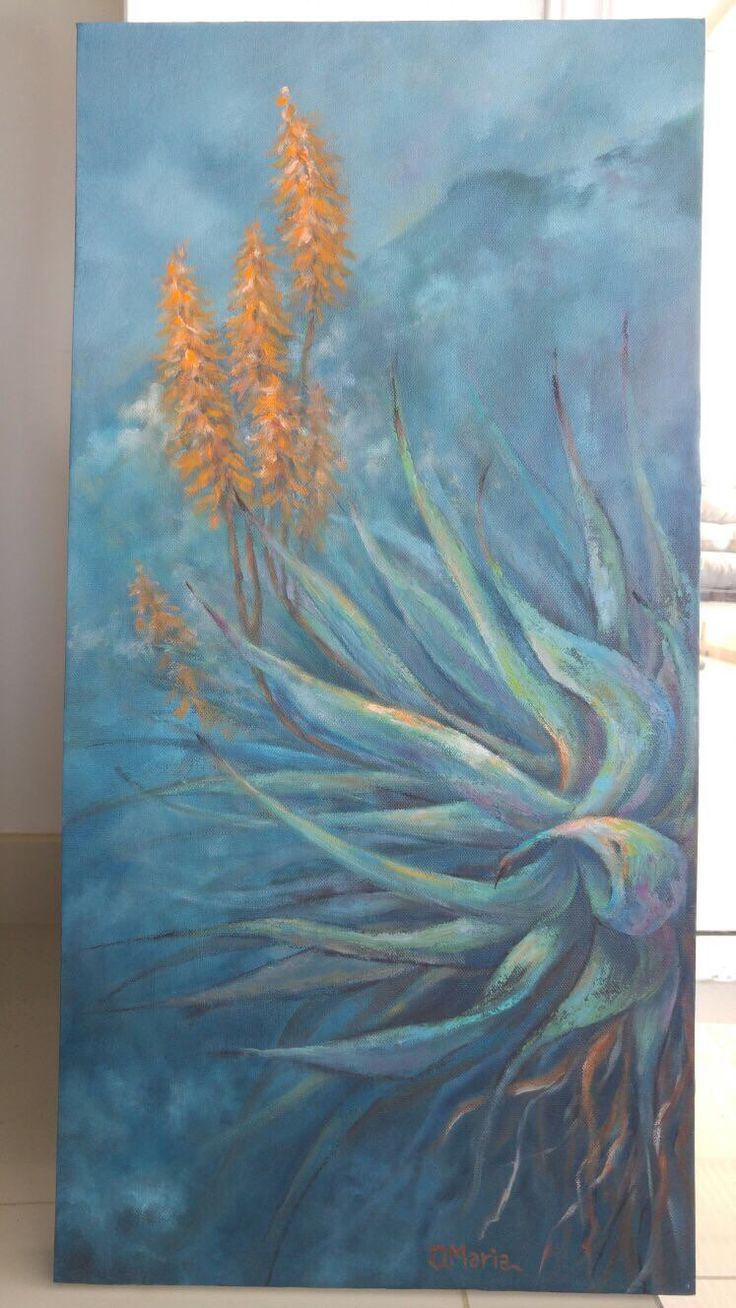 New painting up in my Etsy shop, oil painting, flowers painting https://www.etsy.com/listing/265465588/original-oil-painting-aloe-oil-painting