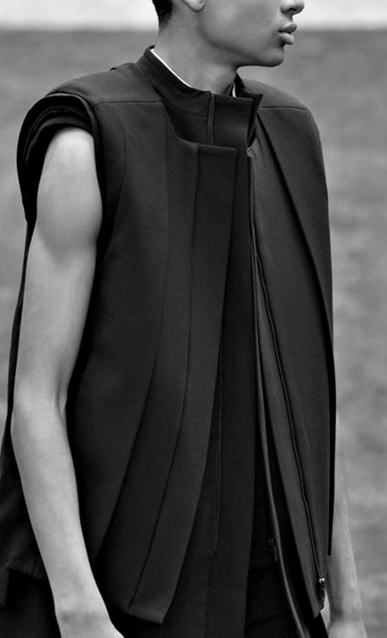 Rad Hourani 'SS14 - just so stunning with all the layered details and complexities. #menswear