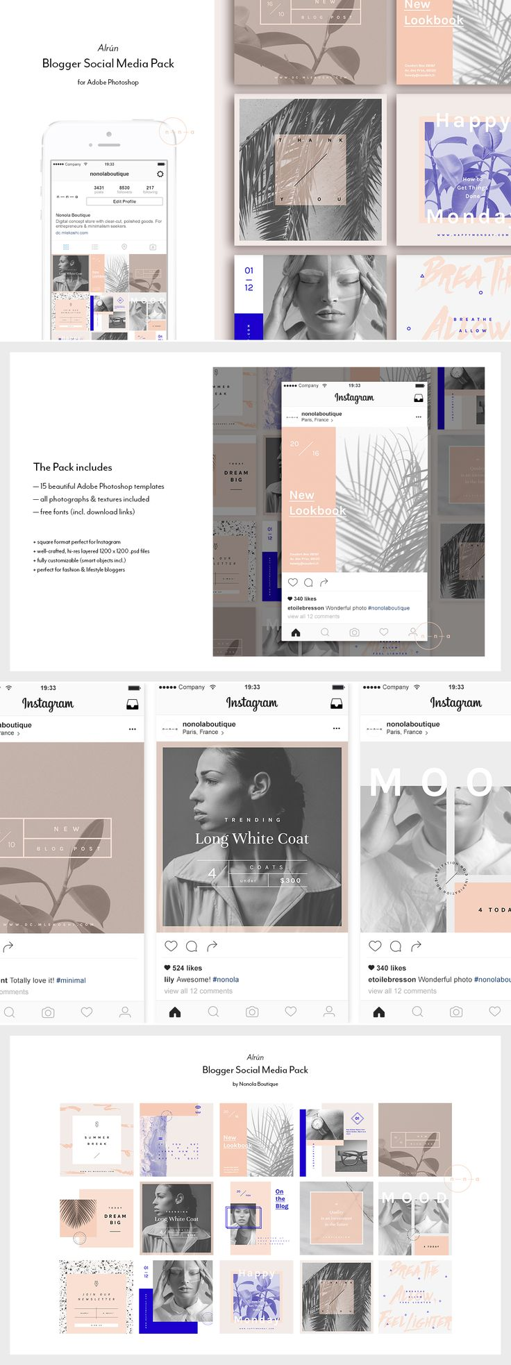 Minimalist Social Media Pack / Stylish graphics - Tap the link to shop on our official online store! You can also join our affiliate and/or rewards programs for FREE!