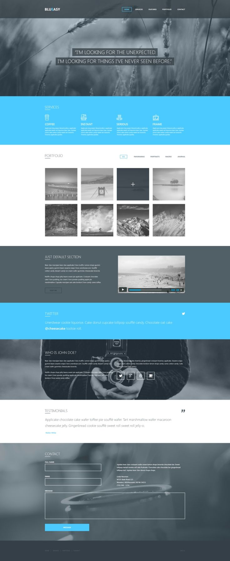Blueasy - Free PSD Template