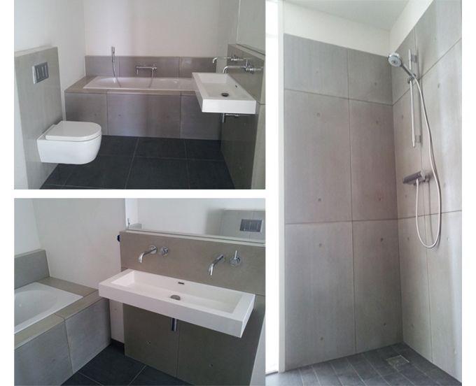 Badkamer Beton Interieur : Beton wandpanelen badkamer betonloods betonnen interieur