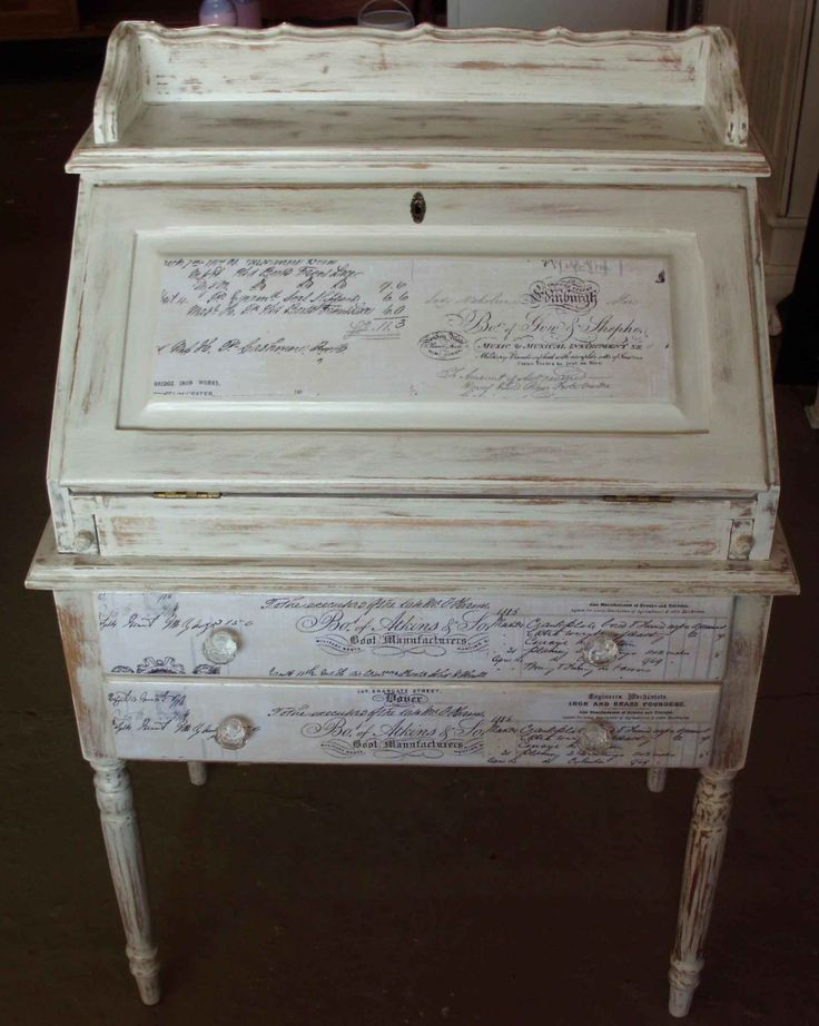 Writing Desk with Decoupage