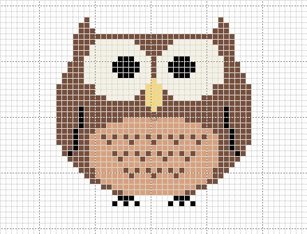Craft Novice: Free Cross Stitch Owl Pattern