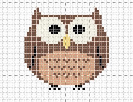 Craft Novice: Free Cross Stitch Owl Pattern