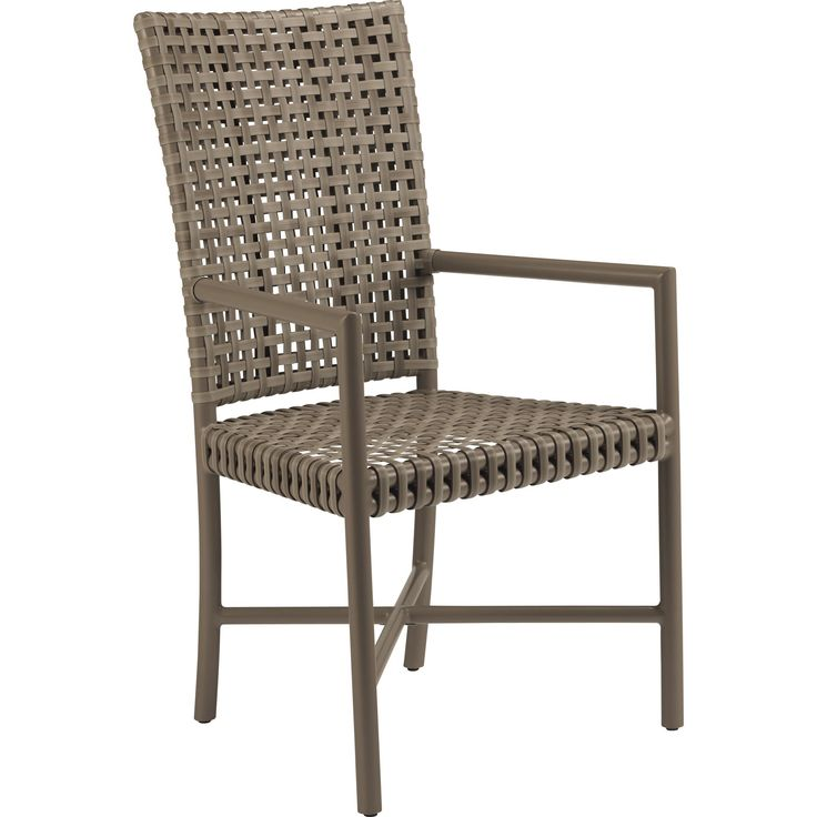 Buy Antalya(TM) Outdoor Tall Back Arm Chair by McGuire Furniture - Quick Ship designer Furniture from Dering Hall's collection of Contemporary Mid-Century / Modern Transitional Dining Chairs.