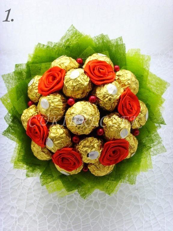 Bukiet z cukierków Walentynki/ślub/Urodziny