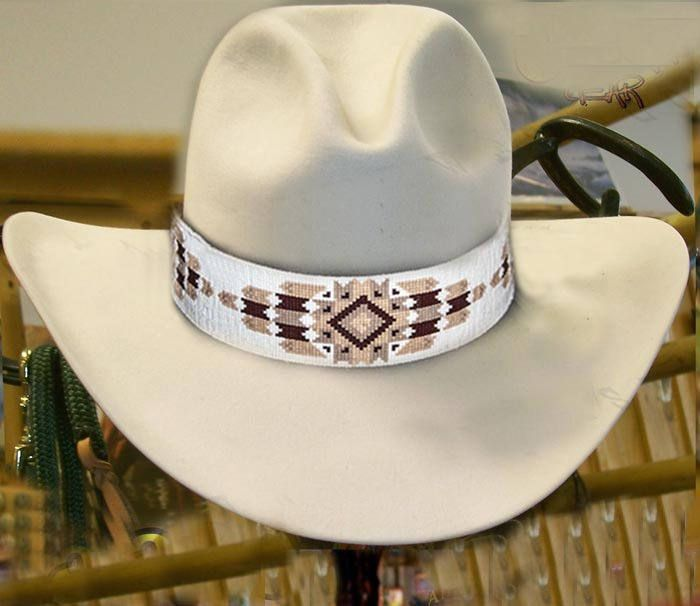 Cheyenne Native American Style Extra Wide Hat Band Beaded Hatband Beaded Hat Bands Beaded Hat Hat Band
