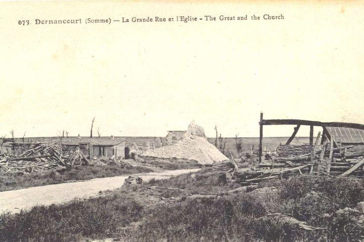 Dernancourt after the battle