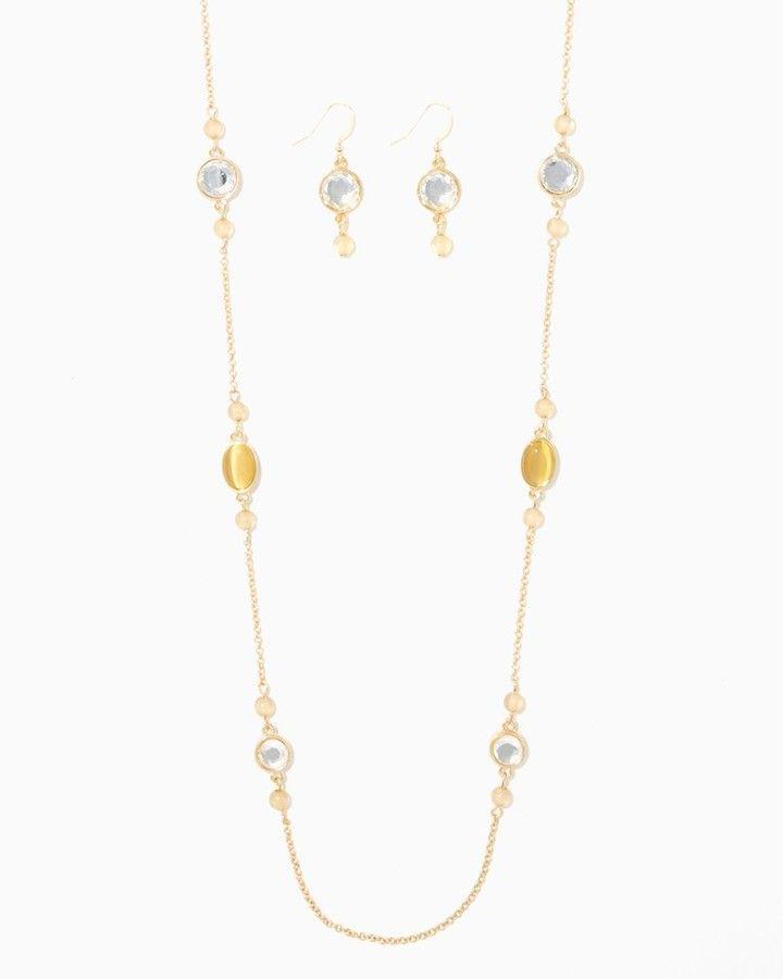 Charming charlie Jazz Station Necklace Set