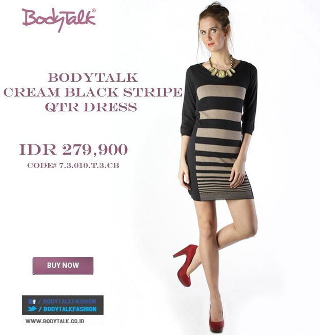 Stripe Dress for Relaxing from Monday Works ? Why Not ! IDR 279,900 click >> http://ow.ly/vKkXq