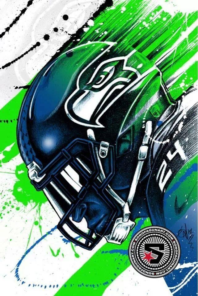 """Marshawn """"Beast Mode"""" Lynch www.footballfanhq.com"""