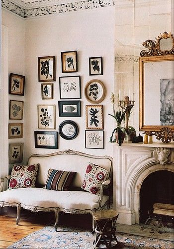 The Brooklyn home of Elliott Puckette and Hugo Guinness, photographed by Anita Calero for Elle Decor, October 2000.