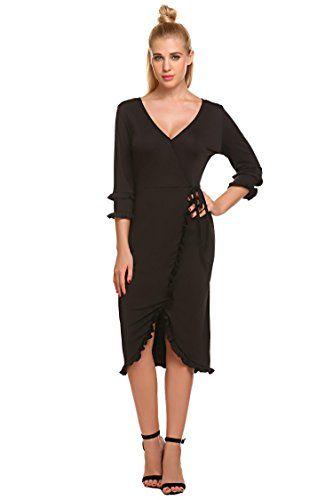 bcd4acc46 Zeagoo - Vestido - para mujer negro negro Medium | Vestidos mujer in ...