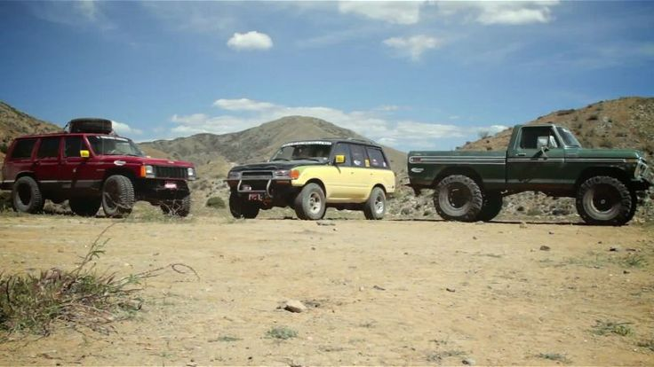 Land Cruiser, Cherokee, F-150 Face Off in Cheap Truck Challenge