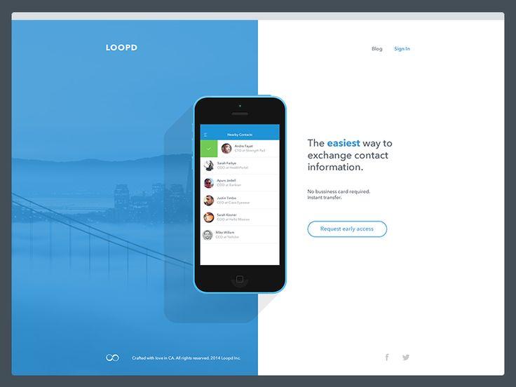 Loopd App Coming Soon Landing Page | Flat Web Design