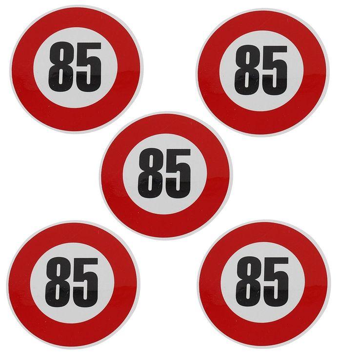 Unique Bargains Vehicle Car Window Reflective 85KM Speed Limit Sign Sticker Decal 5 Pcs, Black
