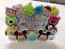 Hong Kong Disneyland Tsum Tsum Mickey Minnie Toy Story Magnet Stand Frame