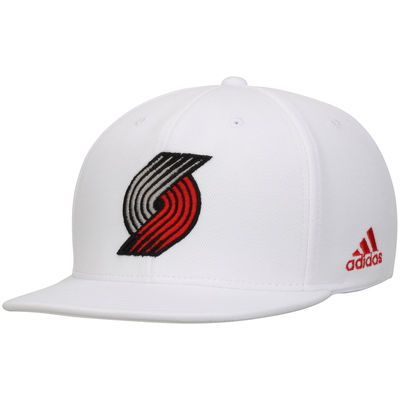 Portland Trail Blazers adidas Flat Brim Snapback Hat - White