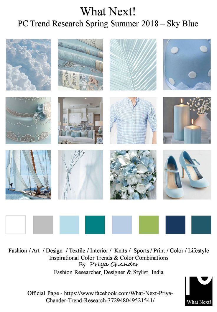 S/S 2018: Sky Blue Mood Trends