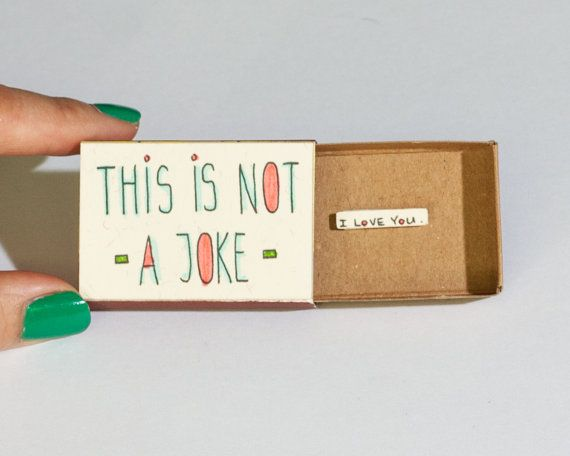 "Cute Love Card / Proposal Card / Matchbox Gift box / Message box/ ""This is not a…"