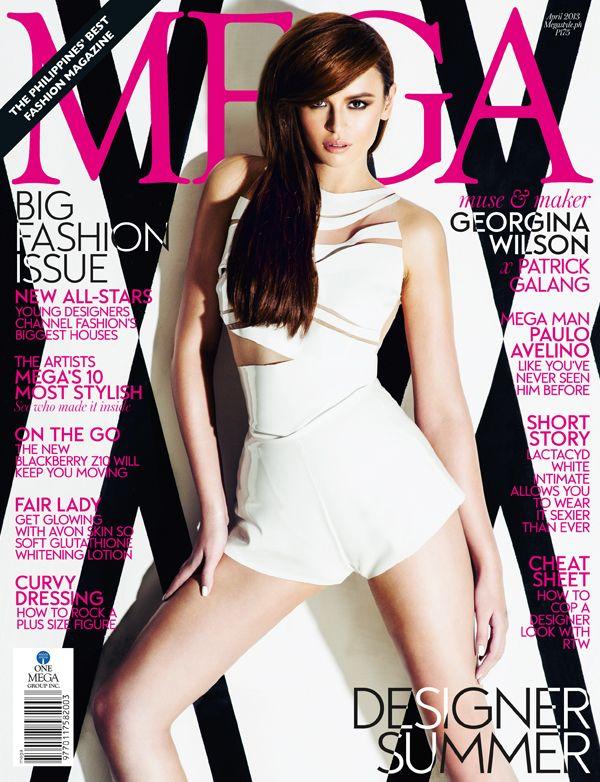 Georgina Wilson Mega Magazine April 2013 cover