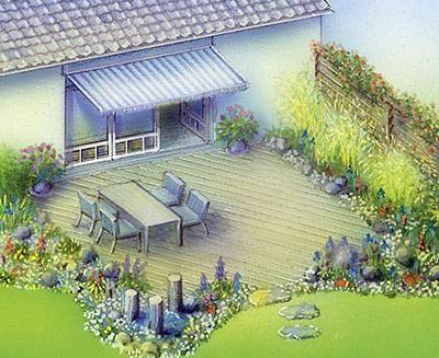 40 besten Terrasse mit Steinbelag Bilder auf Pinterest Terrasse