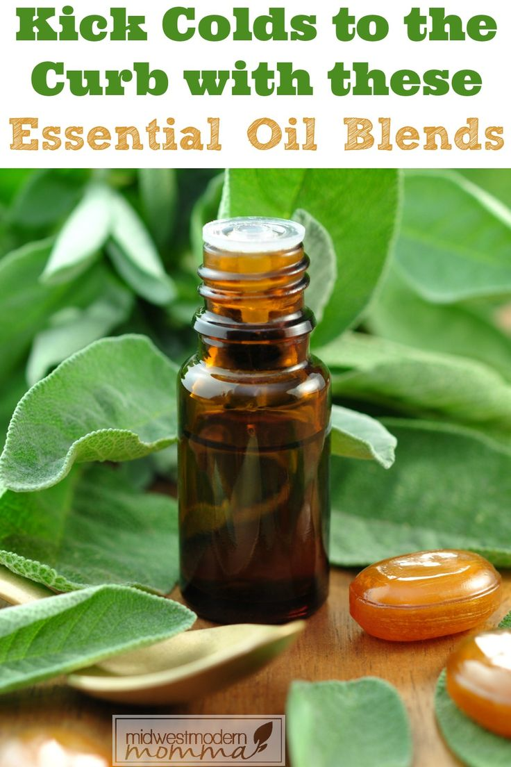 4 Essential Oil Blends to Use at the First Sign of a Cold this cold & flu season!