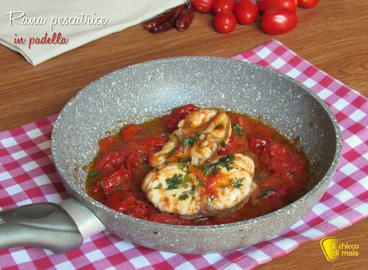 RANA PESCATRICE IN PADELLA #ranapescatrice #codadirospo #pomodoro #tomato #sauce #ricetta #recipe #pesce #seafood #ilchiccodimais http://blog.giallozafferano.it/ilchiccodimais/rana-pescatrice-in-padella/
