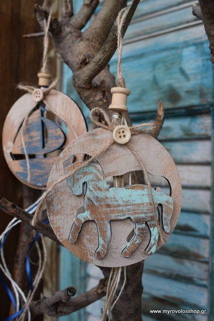 Μπομπονιέρα Βάπτισης Διακοσμητικό ξύλινο με Αλογάκι bell-35