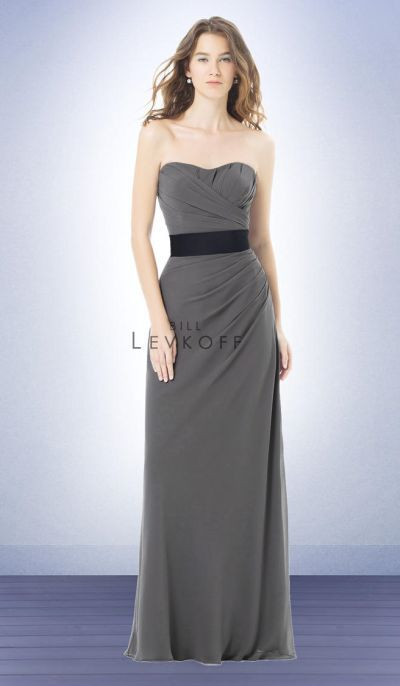 Bill Levkoff 483 Asymmetrical Bridesmaid Dress image