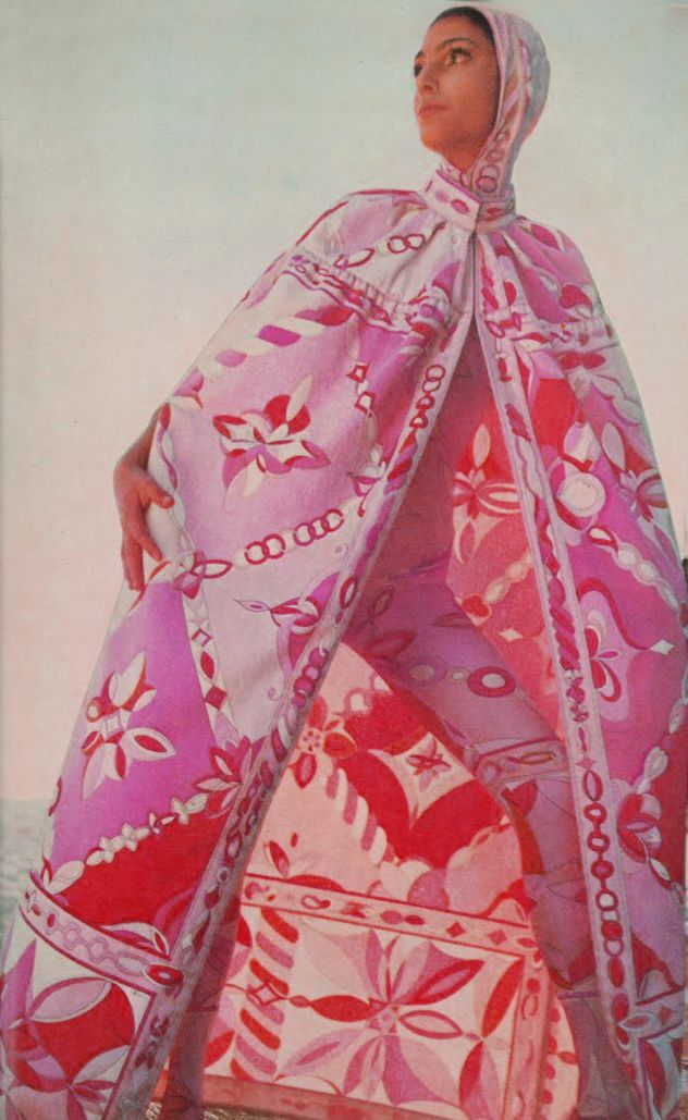 Benedetta Barzini in Pucci 1960's                                                                                                                                                                                 More