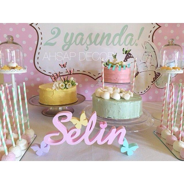 Baharda doğum günü masaları başka güzel olur. Teşekkürler @happyworkshop yine her zaman ki gibi çok güZel