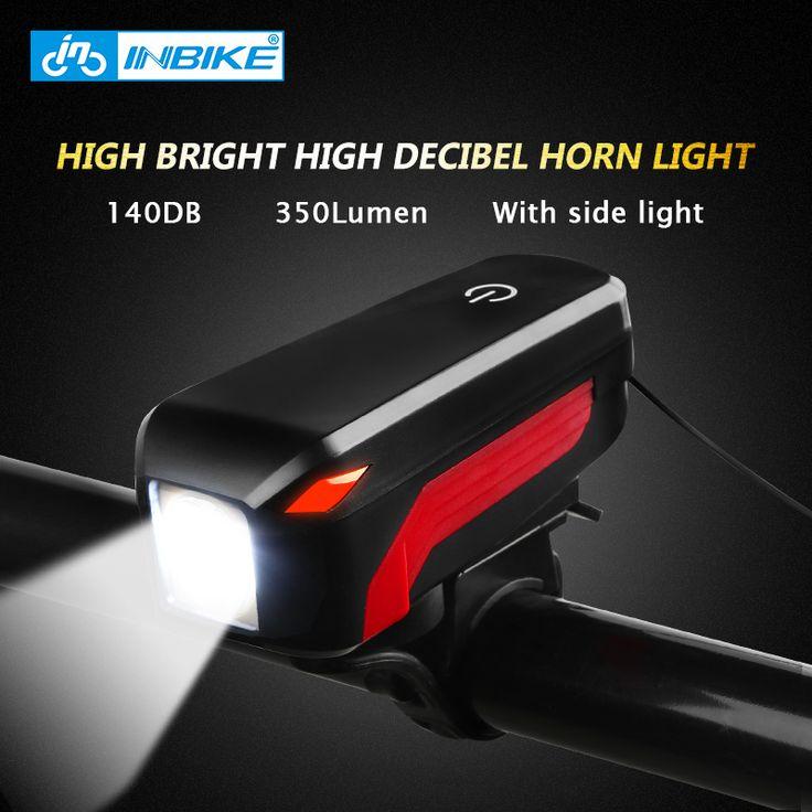 INBIKE 2017 Bike Electric Horn Light Mountain Bicycle Headlights Flashlight USB Charging Cycling Equipment Cycling Accessories #Affiliate