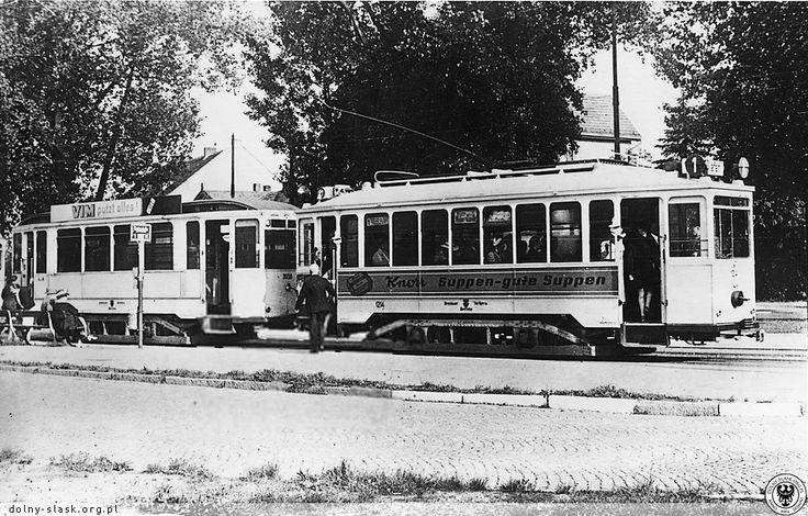 Lata 1940-1943 Tramwaj linii 1 na przystanku końcowym przy ul.Olszewskiego.