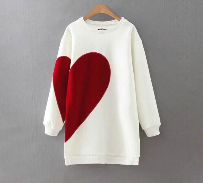 Find More Hoodies & Sweatshirts Information about White/black Heart Letter Print Long Oversized Sweatshirt Hoodies Long Sleeve Loose Casual Round Neck High Street 2017WinterWomen,High Quality sweatshirt hoodie,China hoodie long Suppliers, Cheap oversized sweatshirt from JOYINPARTYCHIC Store on Aliexpress.com