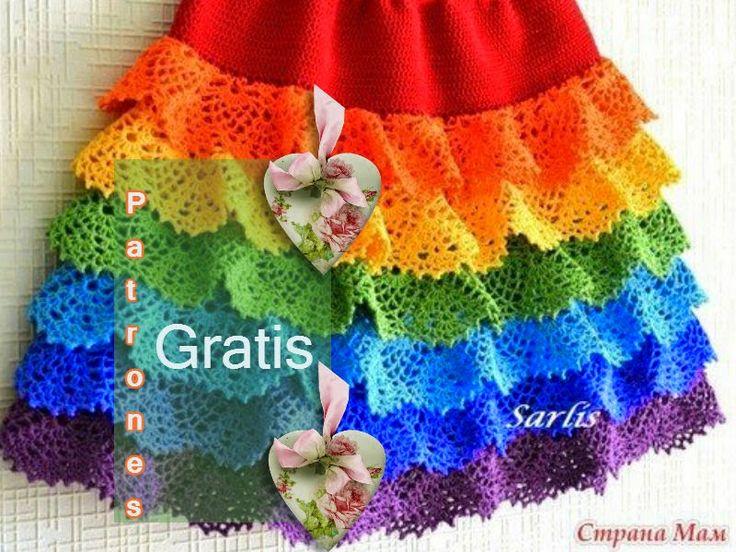 """Delicadezas en crochet Gabriela: Falda de volantes """"Puntillas"""" da clic para acceder..."""