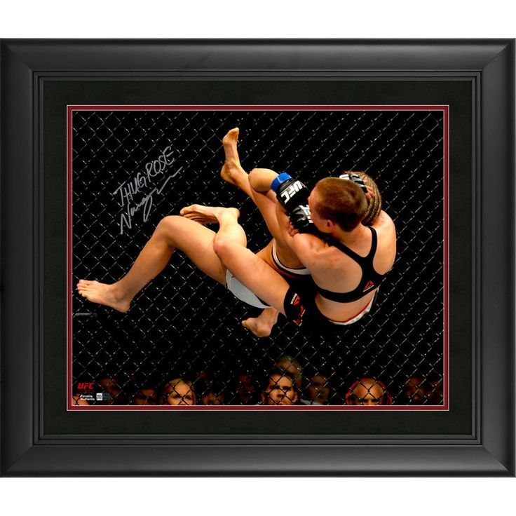 """Rose Namajunas Ultimate Fighting Championship Fanatics Authentic Autographed 16"""" x 20"""" Takedown Against Cage Photograph -"""