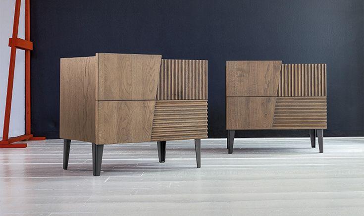 #comodini in #rovere 2 cassetti finitura Rovere tabacco. #design #wood