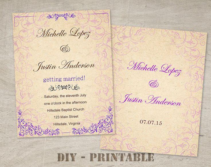 Best Lavender Wedding Invitations Images On