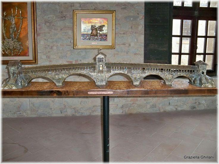 """""""Il ponte sul Ticino"""" di Aldo Gambuzzi esposto al Museo """"Giuseppe e Titina dal Verme"""" del Castello di Zavattarello (Pv)"""