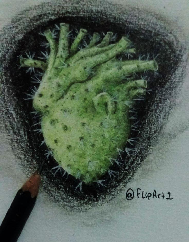 coração de cacto; Cactus heart