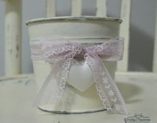 Deco pot LACE & HEART