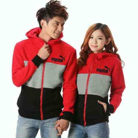 Couple jacket puma,  hrg 117rb@sepsg, bhn babyterri, ld 100 pj 63, cwo 104 pj 70, ada hoodie, fit L