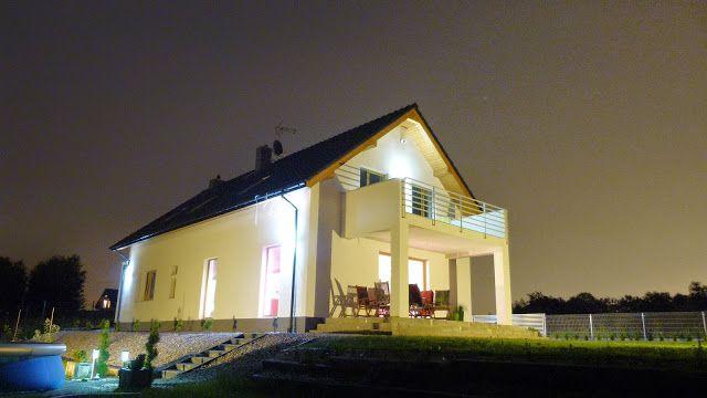 Projekt domu Party oświetlenie nocą