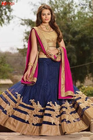 Women's Lycra Fabric & Blue Pretty Circular Lehenga Style  #Zinngafashion #Lehengas  #Pretty #Special #Offers #Happy#Shopping #Indianwear   #LatestTrend #Womenswear #Designwear #Nice #Picoftheday #Wonderful
