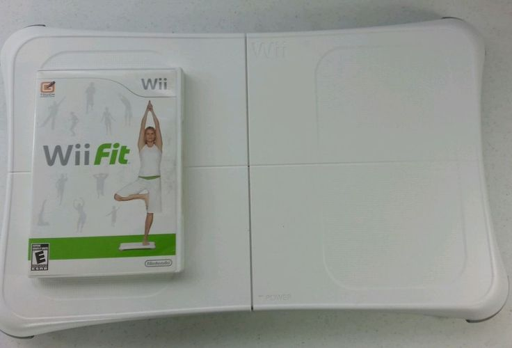 NINTENDO Wii Fit Balance Board w-risers. Now with Wii Fit game EUC