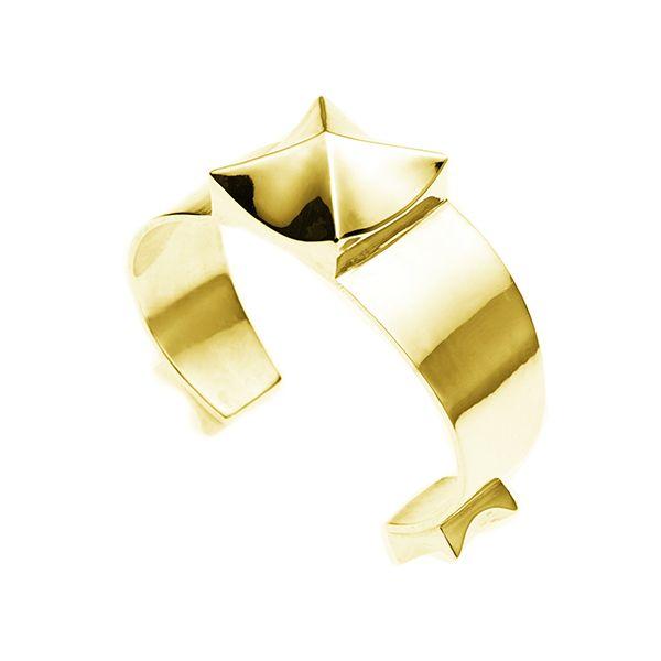 PUSHMATAAHA // Eclipse Cuff in Gold Plate