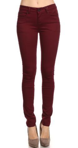 25  best ideas about Burgundy jeans on Pinterest | Maroon jeans ...