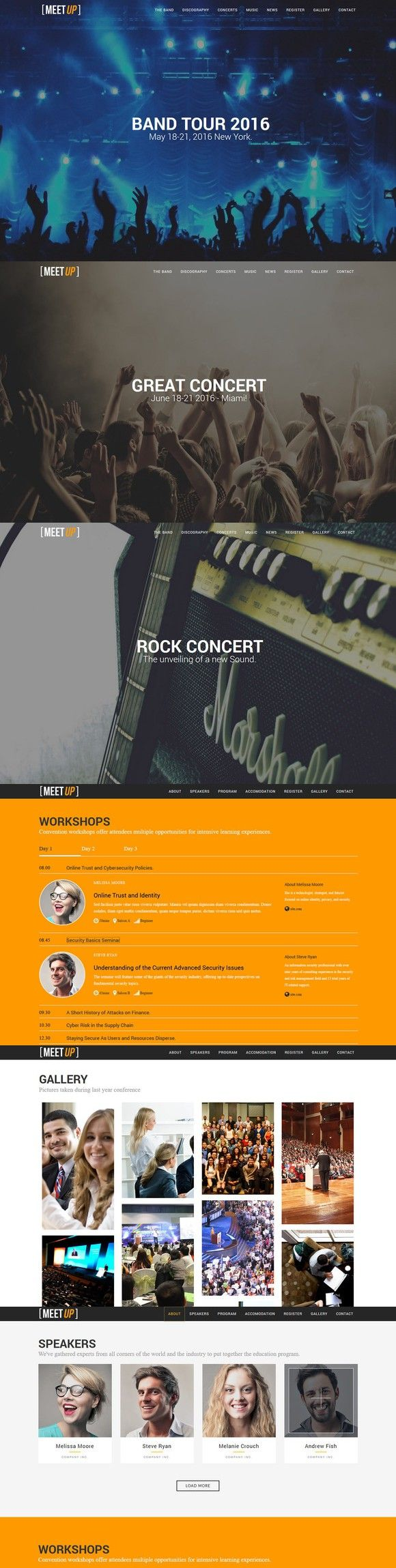 Meetup - Meeting/Convention Template. HTML/CSS Themes. $20.00
